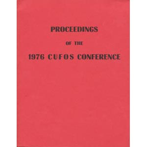 Dornbos, Nancy (ed.): Proceedings of the 1976 CUFOS conference