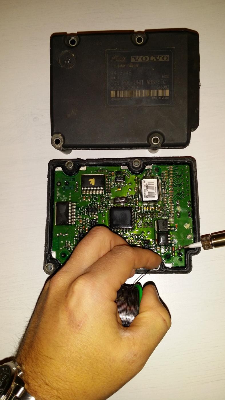 Reparation av instrumentpanel
