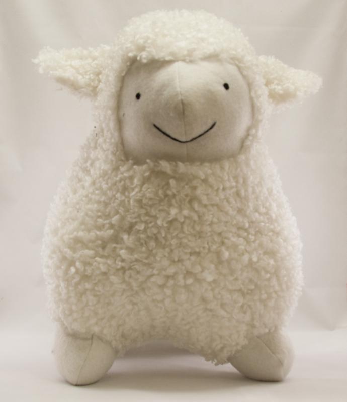 stort lamm vit
