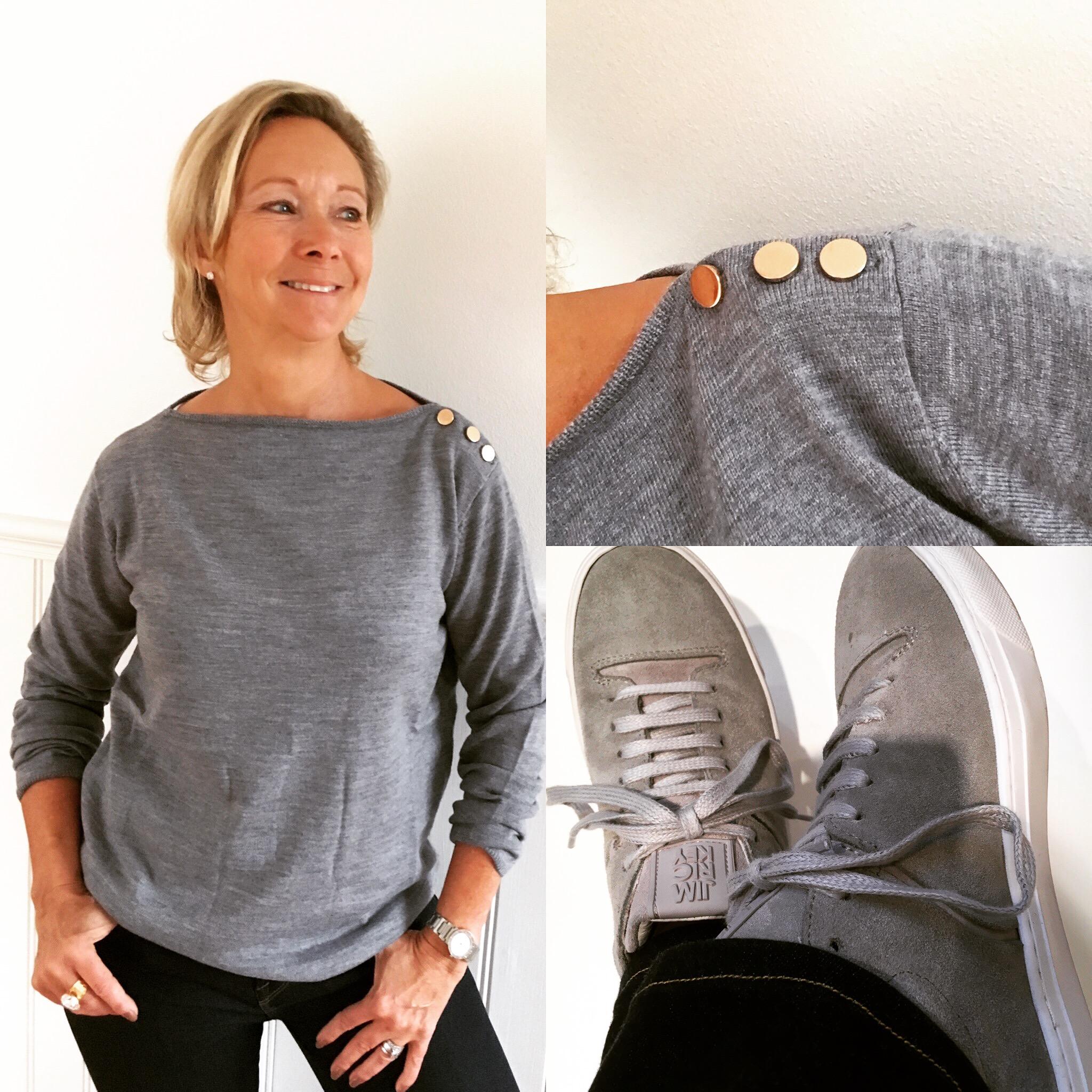 67818e4e848 Full poäng får den här fina tröjan i mjukaste ull från STYLEINS nya  kollektion!! Snygg till sneakers från vårt nya fina märke JIM RICKEY som  kommer i vår!
