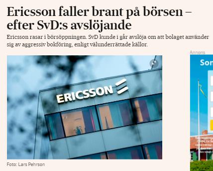 Ericsson fortsatte ned ravaror vinnare 3