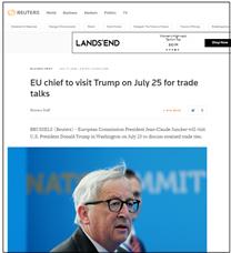 Juncker till USA för att lösa handelskonflikten med USA (källa: Reuter)