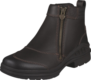 Ariat BarnYard Side Zip - Mörkbrun, stl 37,5