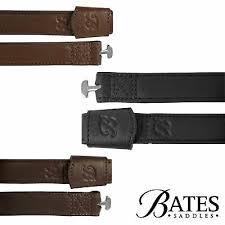 Bates Webbers, enkla stigläder - Bruna i Luxeläder, 70 cm