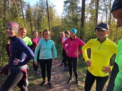 Löpning i grupp på Galgberget Halmstad