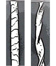 Ull till vänster och bomull till höger.