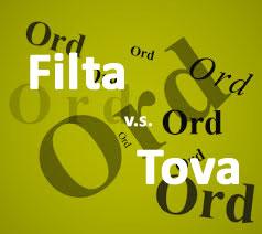 Är det någon skillnad mellan begreppen filta och tova?