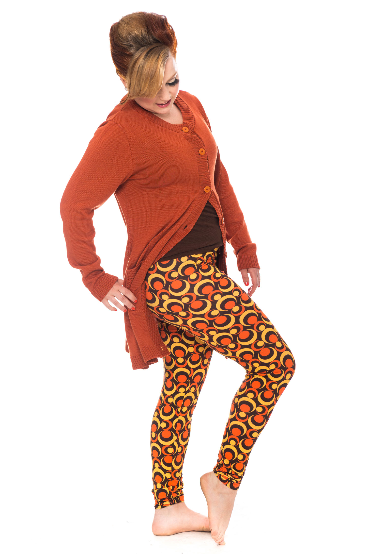 Tant Sofia-Lo leggings orange, Cissi och Selma
