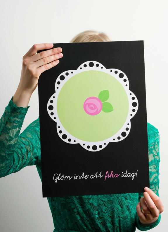 Tant Sofia-A3 Poster Prinsesstårta - Floryd