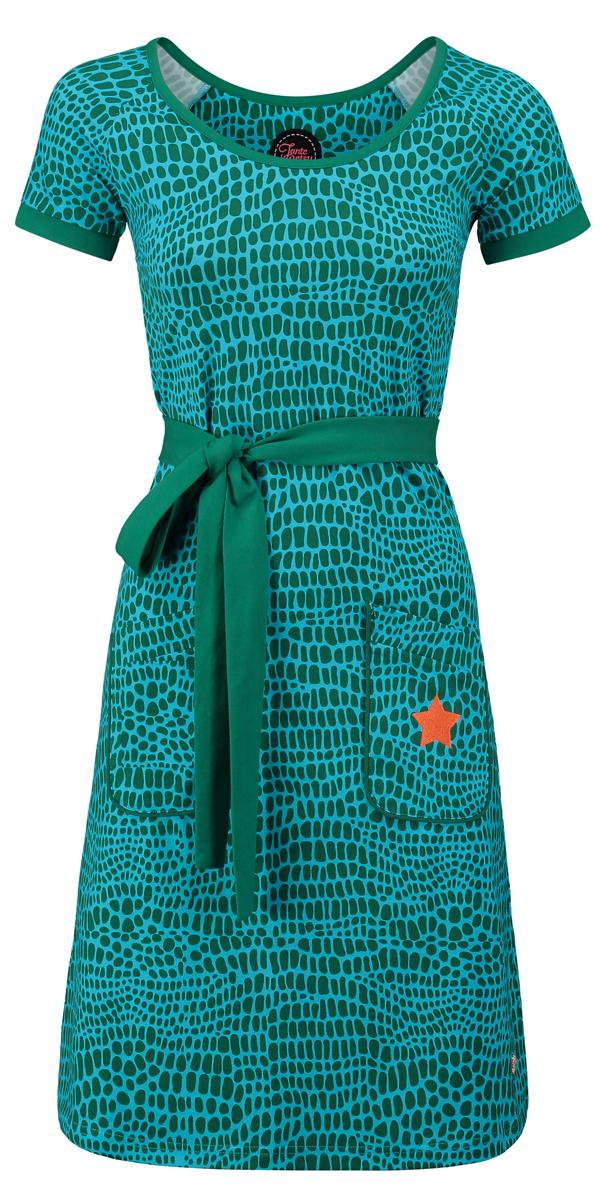 Tant Sofia-Dress Animal green, Tante Betsy