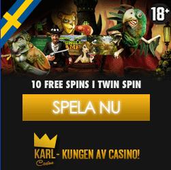 10 gratissnurr i Twin Spin hos Karl Casino!