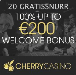 20 snurr hos CherryCasino helt gratis!