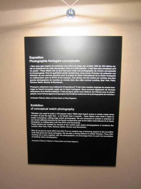 Christopher Östlund beskrivning av utställningen i Geneve
