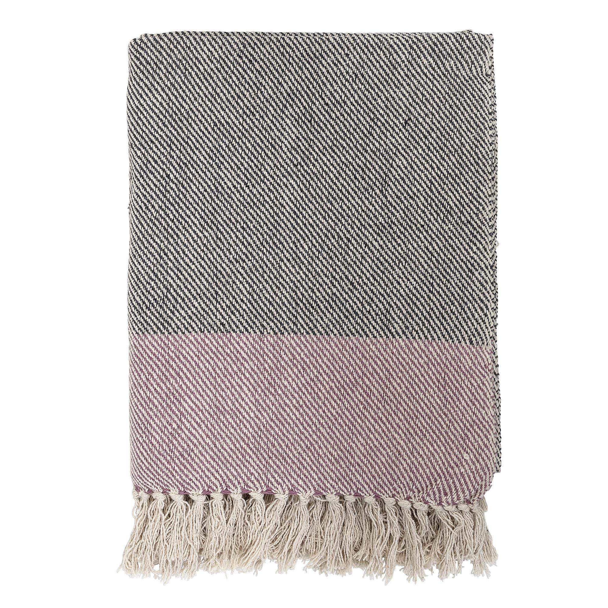 Filt rosa/svart/beige från Bloomingville
