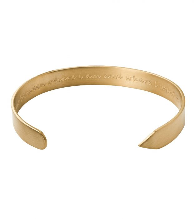 Armband Thoughts matt gold