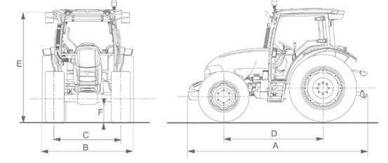 McCormick C-MAX, bild på mått