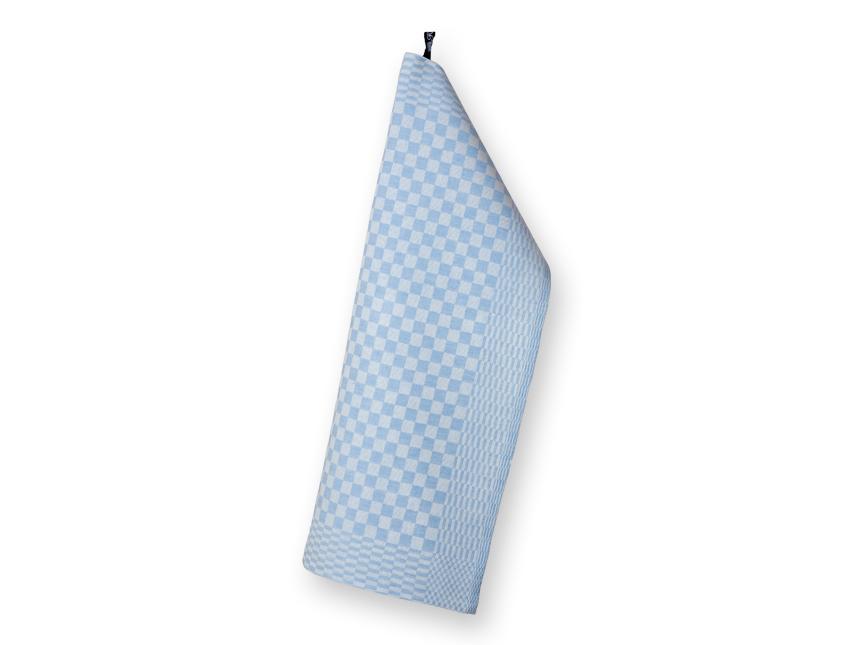 Schackrutan handduk ljusbla