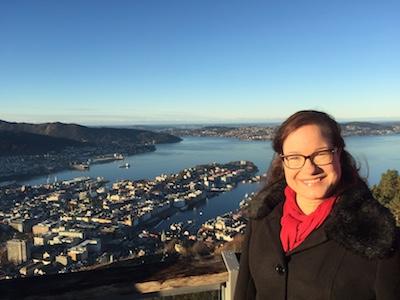 Utsikt över den norska västkuststaden Bergen
