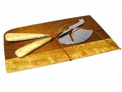 Ostset Masurbjörk/Cheese set Curly Birch - Ostset/Cheese set