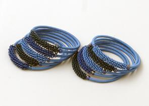 Armband Blue Tones M