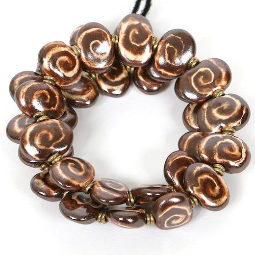 Bracelets Flat - Rust:Satin Cream