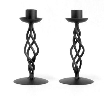 Ljusstake/Candle Holder - Skruv/Twist - Svart Ljusstake skruv/Black Candleholder twist