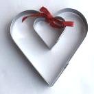 Pepparkaksmått set av 2 st Hjärta
