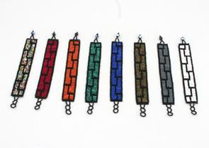 Smycken/Jewelry -  Artesanias Juanita: Armband/Bracelet - Armband Grafiskt/Bracelet Graphic: Brun/Brown