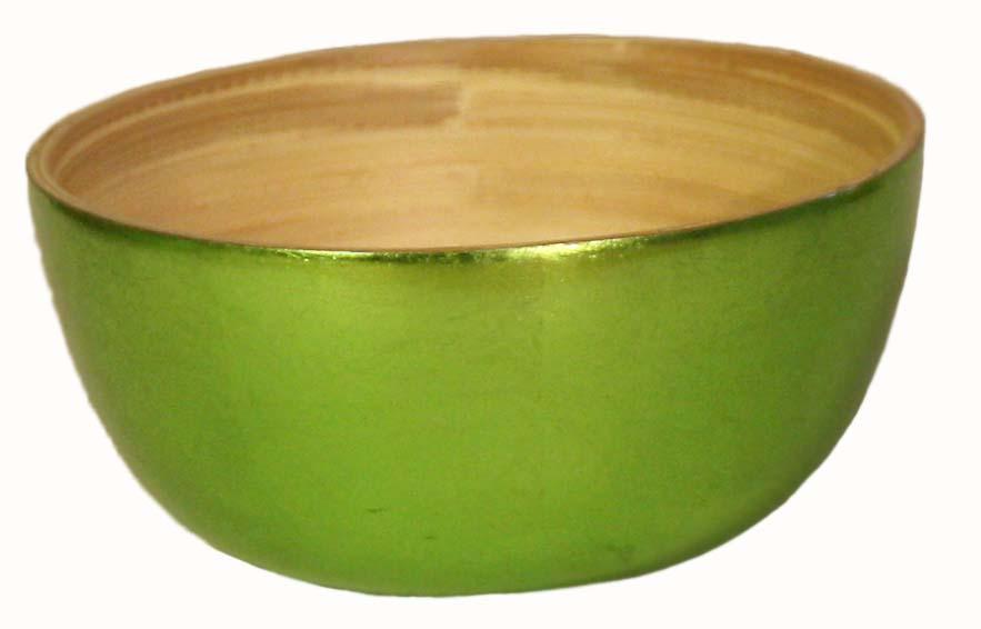 Bambuskål Mellan Grön