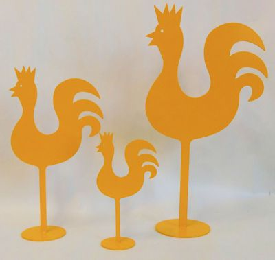 Tupp/Rooster - 21 cm - Gul/Yellow