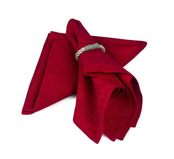 Servett struktur röd dahlia