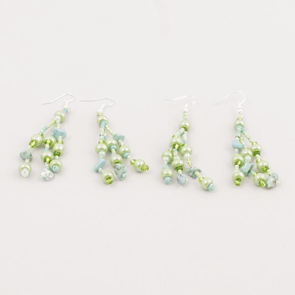 Pärlörhänge - Grön
