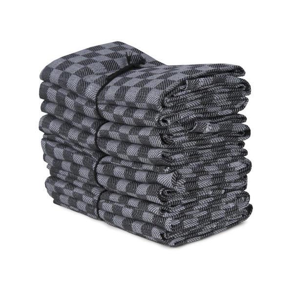 Handduk Schack grå-svart