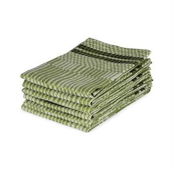 Handduk/Towel - Domino - Domino 50x70 cm: Bladgrön-vit/Leaf Green-White