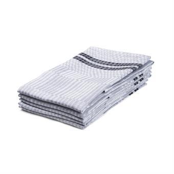 Handduk Domino ljusgrå-vit
