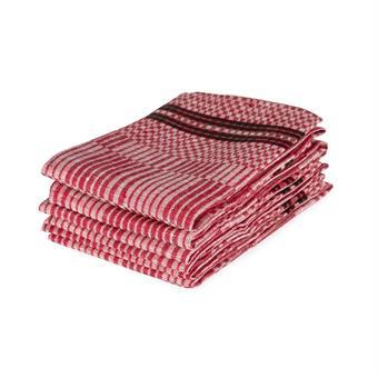 Handduk Domino röd-vit