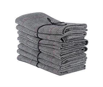 Handduk/Towel - Marulk/Monkfish - Marulk/Monkfish 50x70 cm: Svart-lila/Black-Lilac