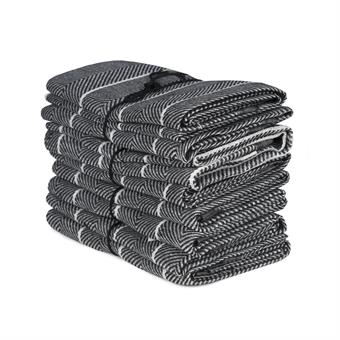 Handduk Marulk svart-vit