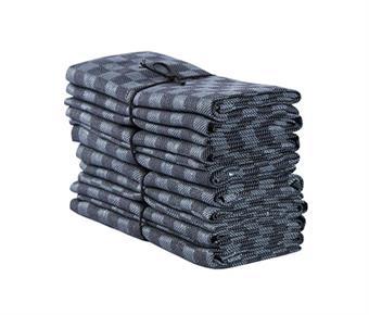 Handduk Schack bleckblå-svart