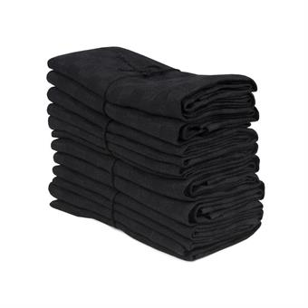 Handduk Schack svart-svart