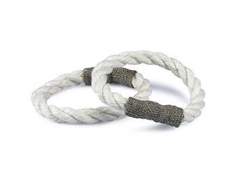 Servettring/Napkin Holders - Servettring/Napkin Holders: Rep vit-Tyg natur/Rope white-Fabricnature
