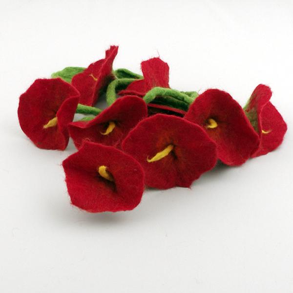 Dekorgirlang röd blomma