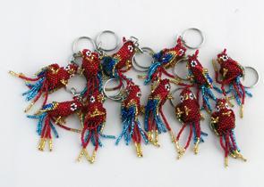 Nyckelring Papegoja röd