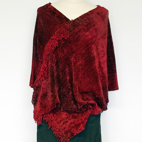 Bambuponcho Röd