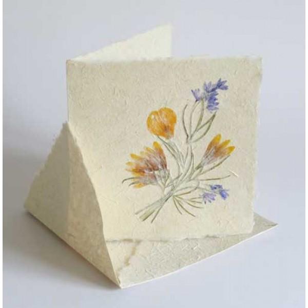 Blomsterkort 15x15 cm