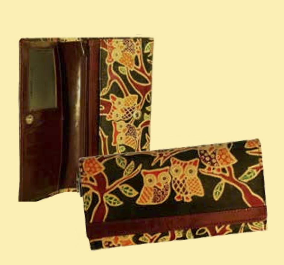 Plånbok med ugglor