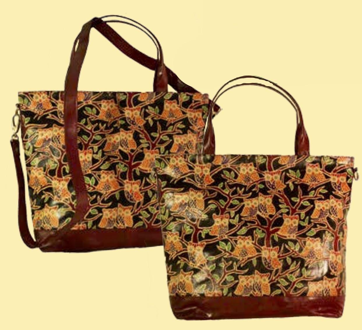 Handväska med ugglor