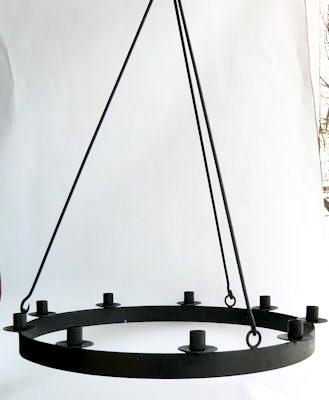 Ljuskrona/Chandeliers - För 9 ljus/For 9 candles Ø 57 cm - Ø 57 cm Ljuskrona för 9 st ljus/Chandelier for 9 candles