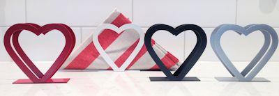 Servettställ Hjärta