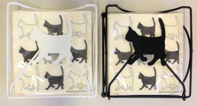 Servettställ Katt Liggande
